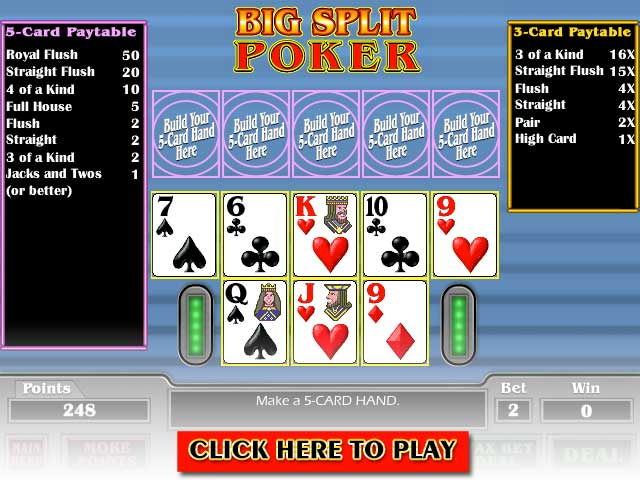 Click to Play Big Split Poker