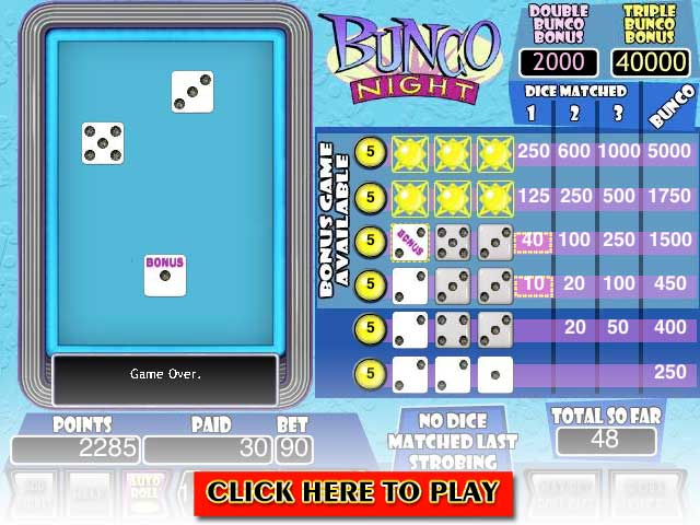 Click to Play Bunco Night