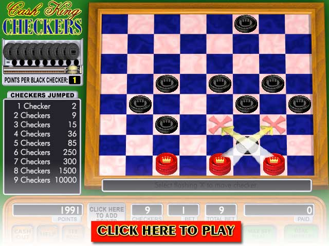 Click to Play Cash King Checkers